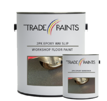 2 Pack Epoxy Anti Slip Workshop Floor Paint